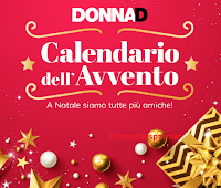 Logo Calendario dell'Avvento DonnaD: vinci gratis 24 Gift Card Idea Shopping da 50€