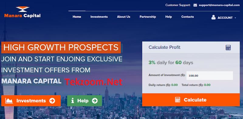 [SCAM] Review Manara-Capital : Huyền thoại thứ 2 giống Palmills - Lãi 3% hằng ngày - Đầu tư tối thiểu 10 - Thanh toán Manual