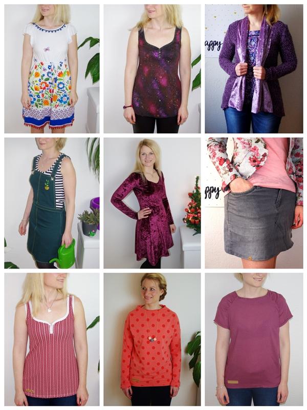 selbst genähte Kleidungsstücke für Frauen