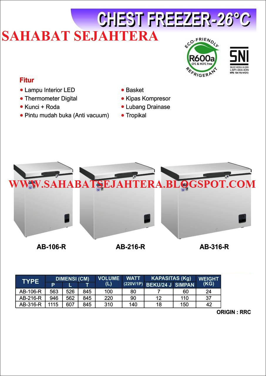 Sahabatsejahtera CHEST FREEZER MESIN FREEZER