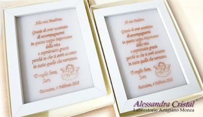 targa incisa regalo personalizzato madrina padrino battesimo
