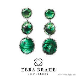 Crown Princess Victoria - Ebba Brahe Jewellery Green Earrings