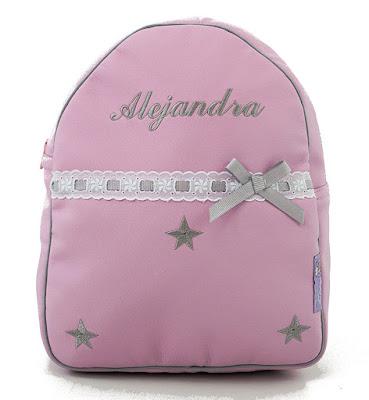 mochila personalizada estrellas gris