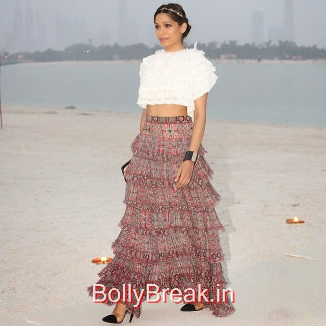 fashion show , chanel ,2015 cruise , fashion show , fashion istas , passion ist as , dubai passion ist as , my dubai , chanel , actress , freida pinto ,, Hot Pics of Freida Pinto From Latest Events