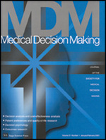 Image of Medical Decision Making journal front cover