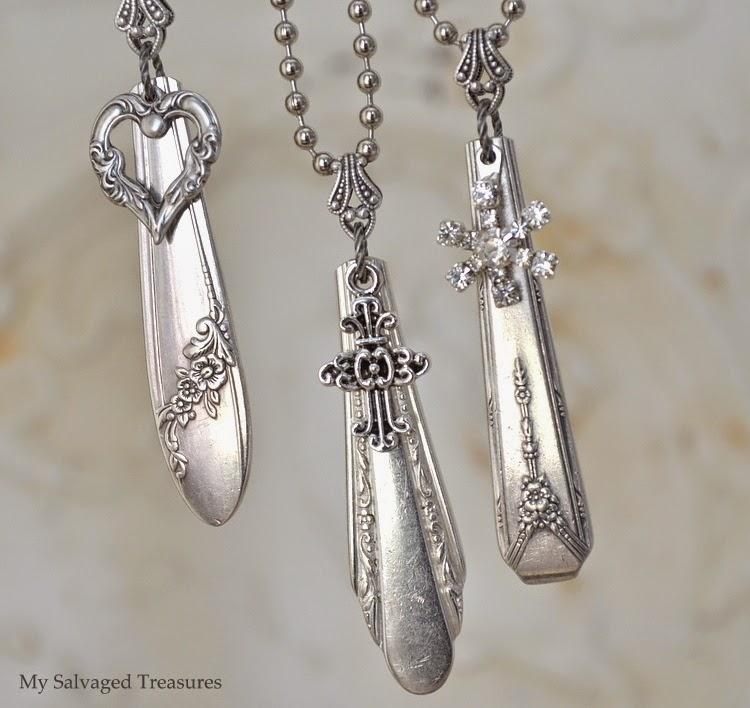 #mysalvagedtreasures silverware handle necklaces vintage DIY