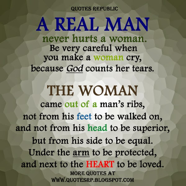 Quotes Republic: A Real Man And The Woman