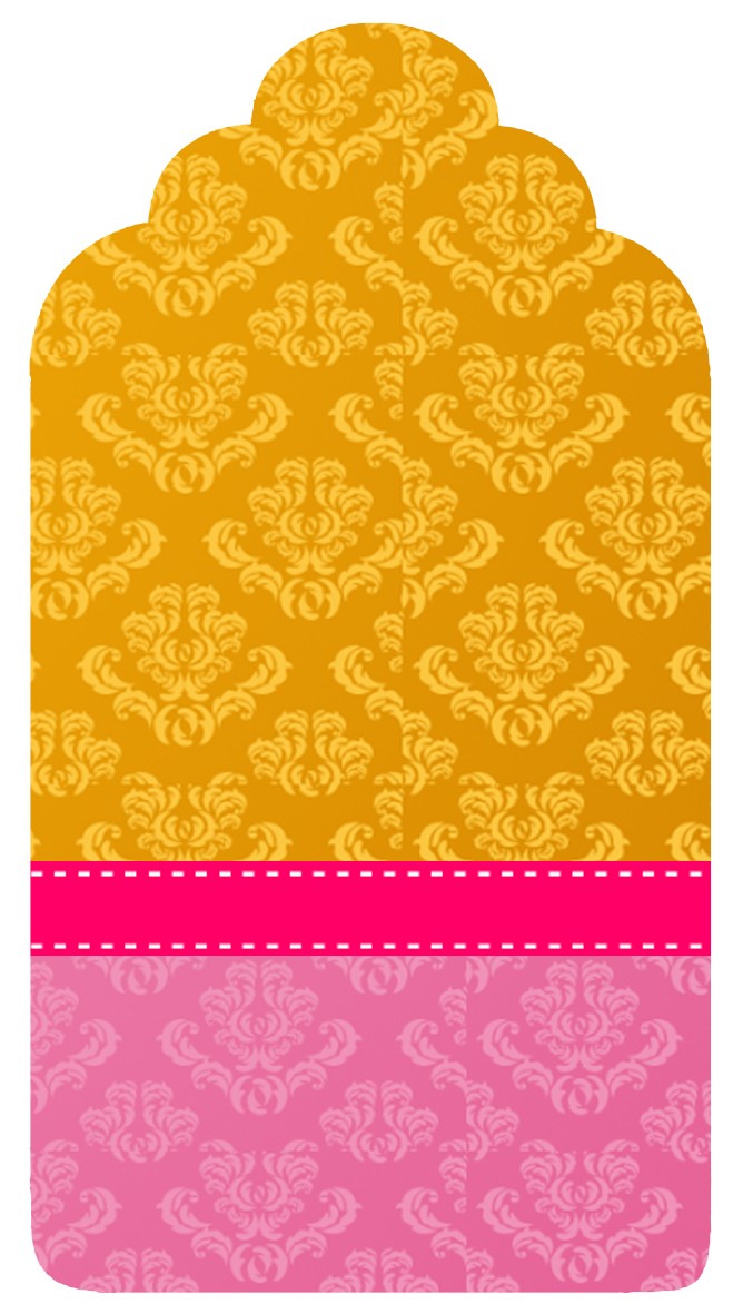white damasks in pink and gold  free party printables  boxes and invitations
