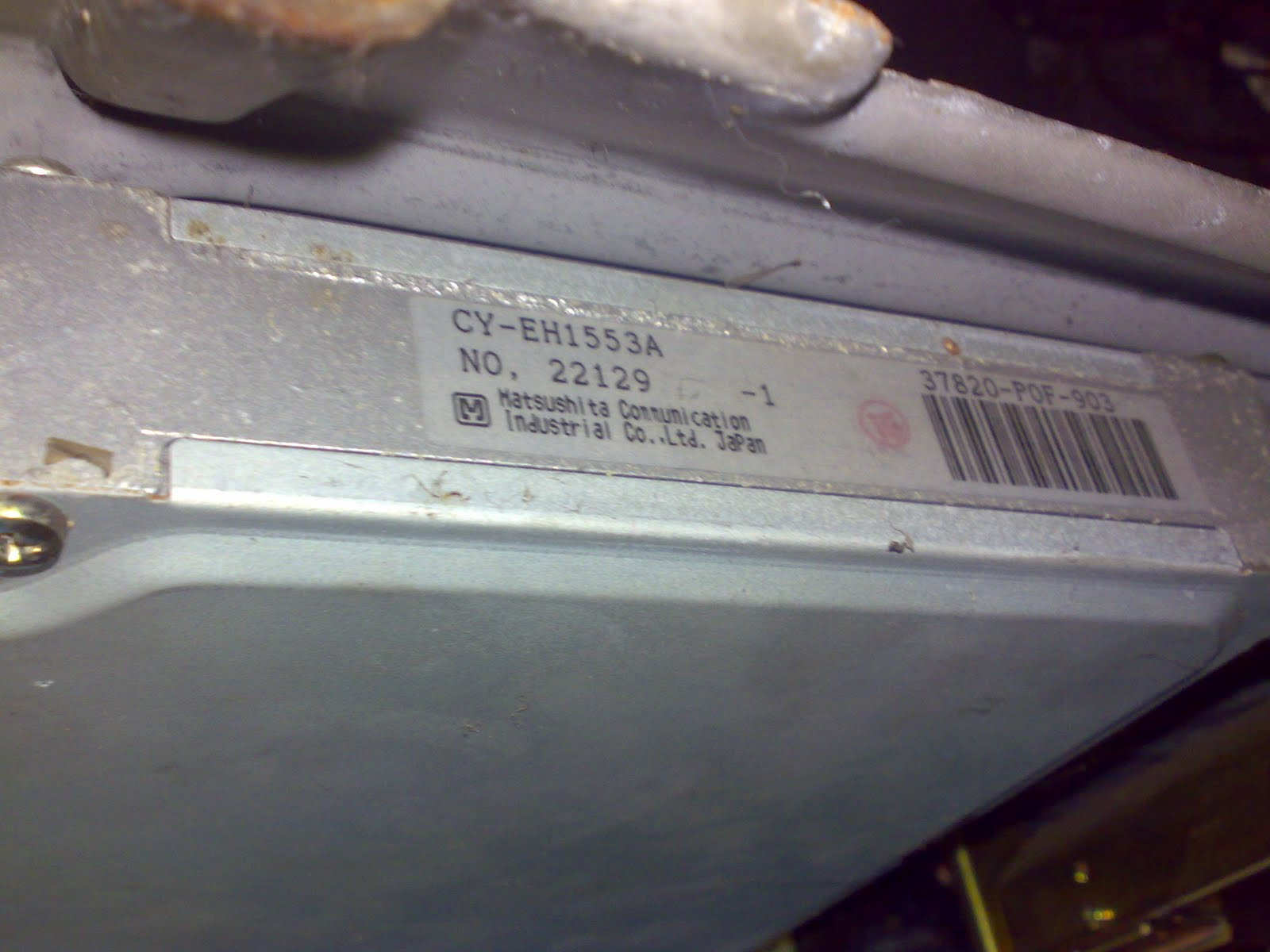 98 Honda Civic Ex Ecu Ecm Pcm Engine Computer Control Module 37820 P2p