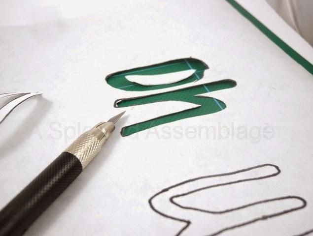 تحديد الحروف باستخدام مشرط