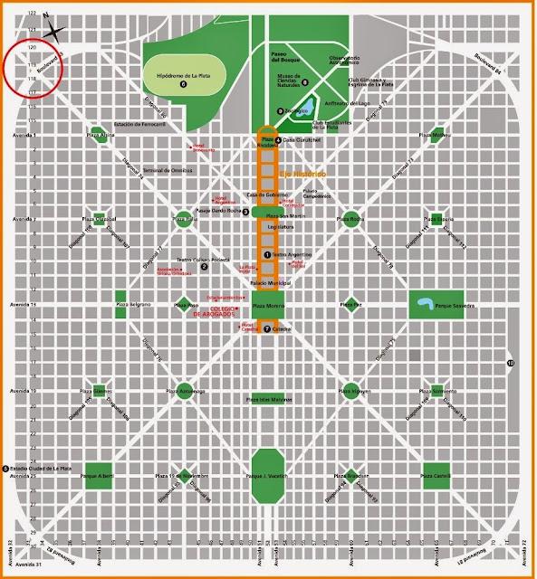 mapa de La Plata
