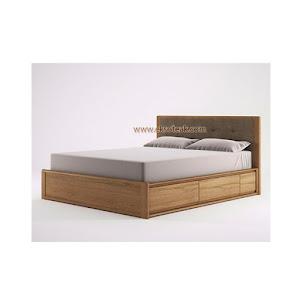 Dipan / Tempat Tidur Jati Minimalis Seri Pasadena