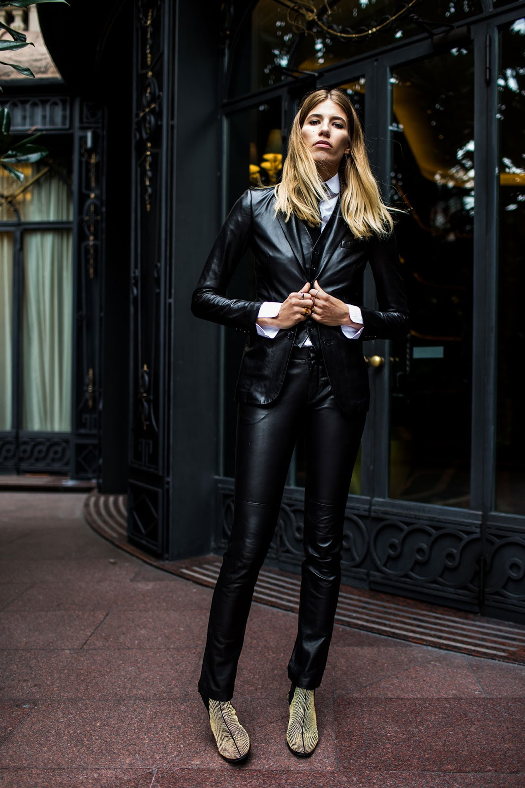 Fashion Inspiration Three Piece Leather Suit By Veronika