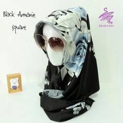 Jual Jilbab Murah Black Armanie