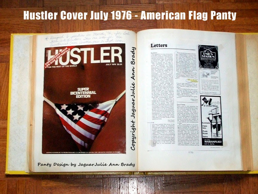 Hustler Cover July 1976 - American Flag Panty
