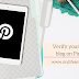 Verify your blogger blog on Pinterest