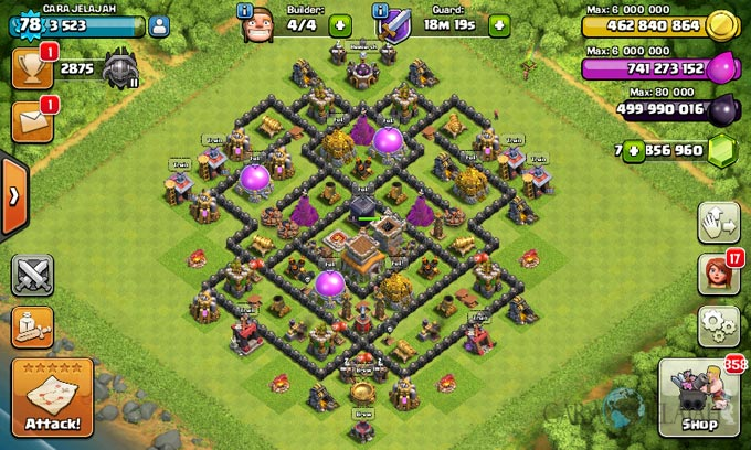 Susunan Formasi Base War TH 8 Update Terbaru 14