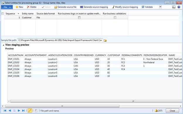 Microsoft Dynamics AX 2012 Data Import Export Framework in