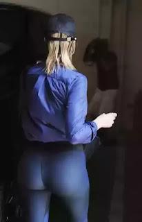 Khloe Kardashian shows off her cute butt after gym workout