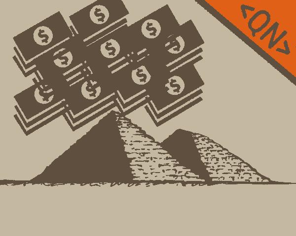 Enganando otários e colocando-os em um esquema de Pirâmide.