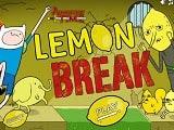 Hora de Aventura Lemon Break  Diviértete con otro juego de Hora de Aventura en la tierra de Lemongrab, ayuda a Finn a recoger los limones en el camino y libera a los limones encerrados en las celdas. completa los 20 niveles para completar esta nueva aventura de Finn en Lemon Break.