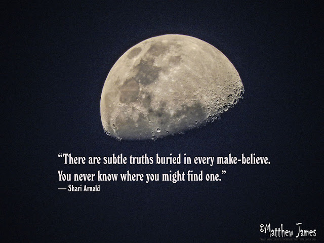 'There are subtle truths buried in every make-believe. You never know where you mightfind one' - Shari Arnold
