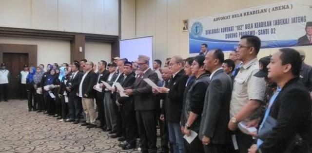 Ratusan Advokat Jateng Deklarasi Dukung Prabowo-Sandi