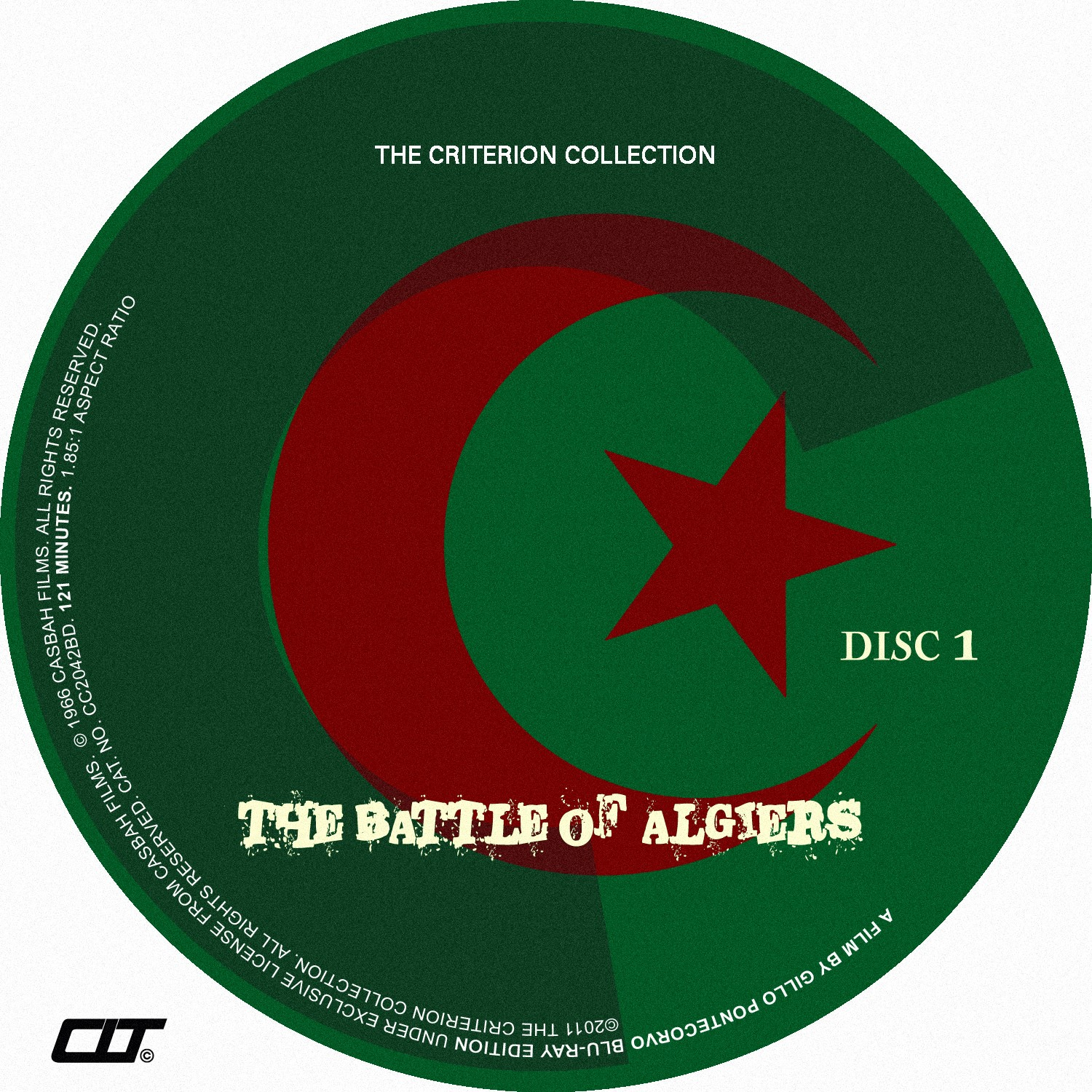 The Battle of Algiers Bluray Label