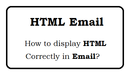 How to display HTML Correctly in Email?