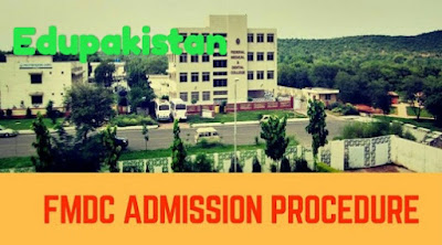 FMDC admission procedure for 2018 is given and explained in this article.Fedral medical and dental colleges (FMDC) is also a medical education governing body under federal government and is affiliated with medical colleges present in Islamabad both public and private.