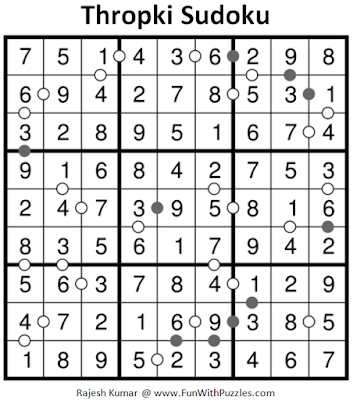 Thropki Sudoku (Fun With Sudoku #194) Answer