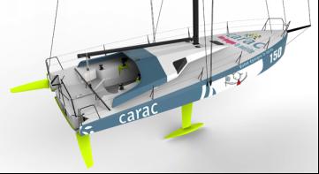 Carac, le nouveau Class40 de Louis Duc