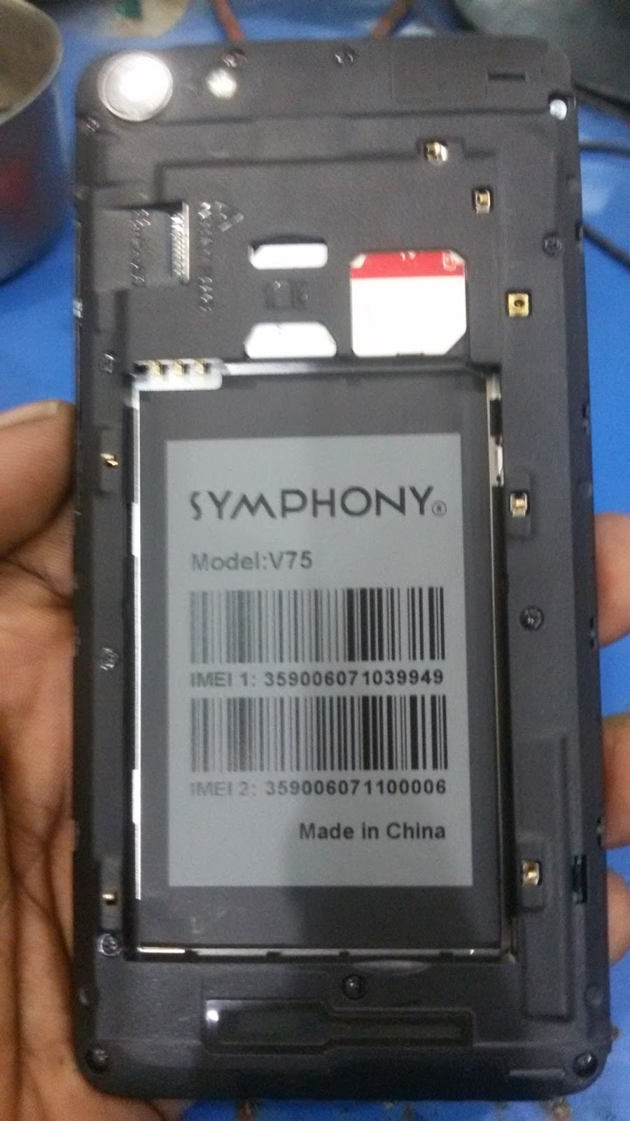 SYMPHONY V75 DEAD RECOVERY FIRMWARE 100% TESTED BY GSM_ramim