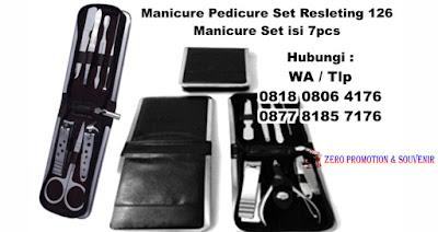 MANICURE SET Ritsleting 126#,  Kikir kuku manicure pedicure set kit, kuku kit, peralatan gunting kuku, Nails Manicure Set, Manicure & Pedicure