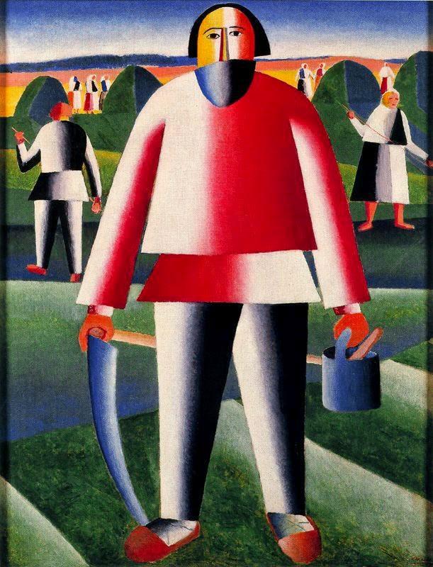 Fenação - Kasimir Malevich e suas pinturas com elementos geométricos abstratos
