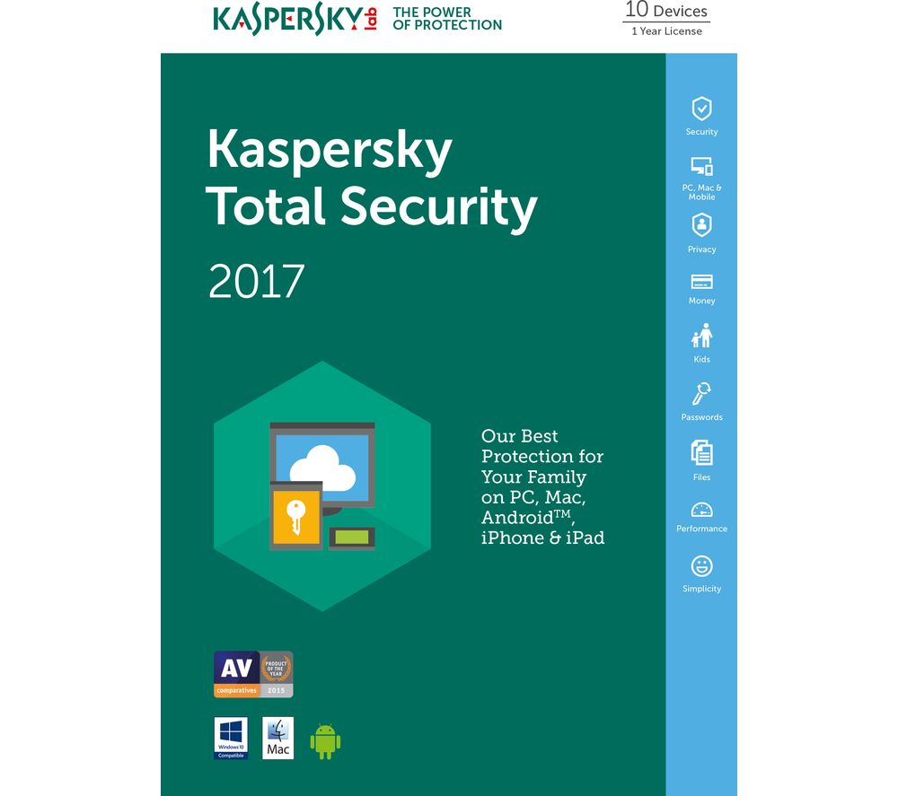 kaspersky total security 2017 activation key free