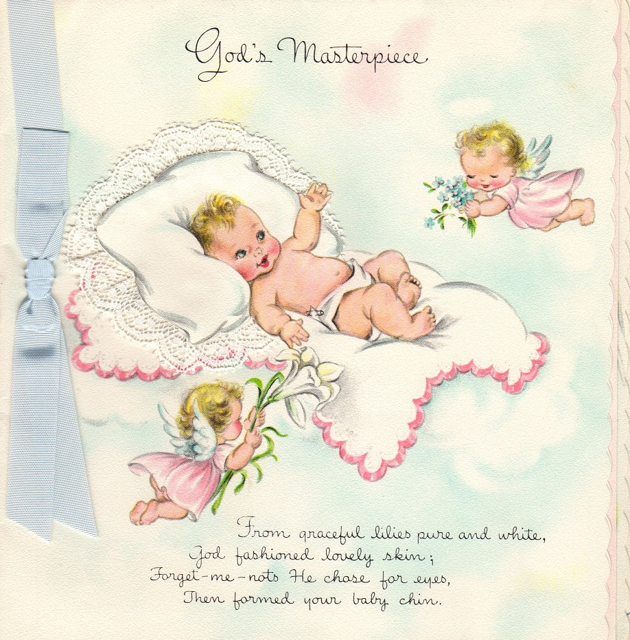 New Baby Greeting Cards 1956