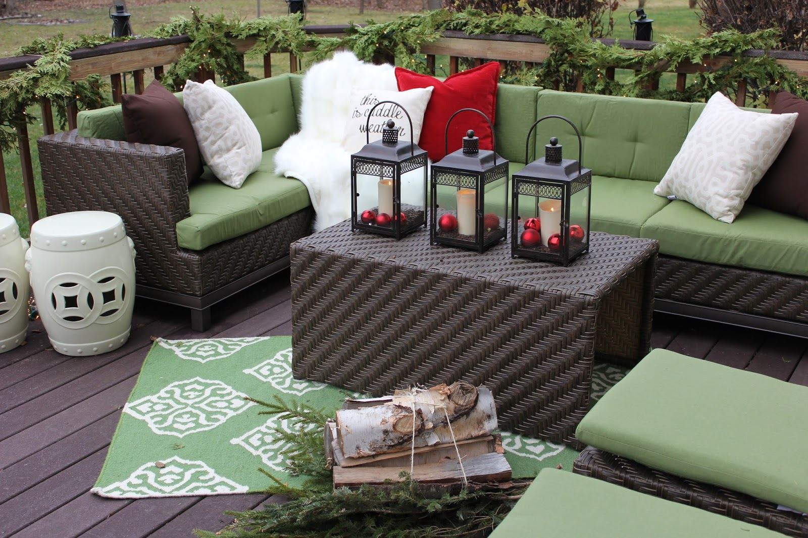 The Yellow Cape Cod: Makeover Reveal - Two Winter Outdoor ... on Rk Outdoor Living id=30480