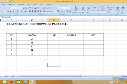 Cara Membuat DropDown List Excel