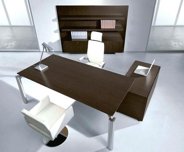 model meja kantor minimalis terbaru