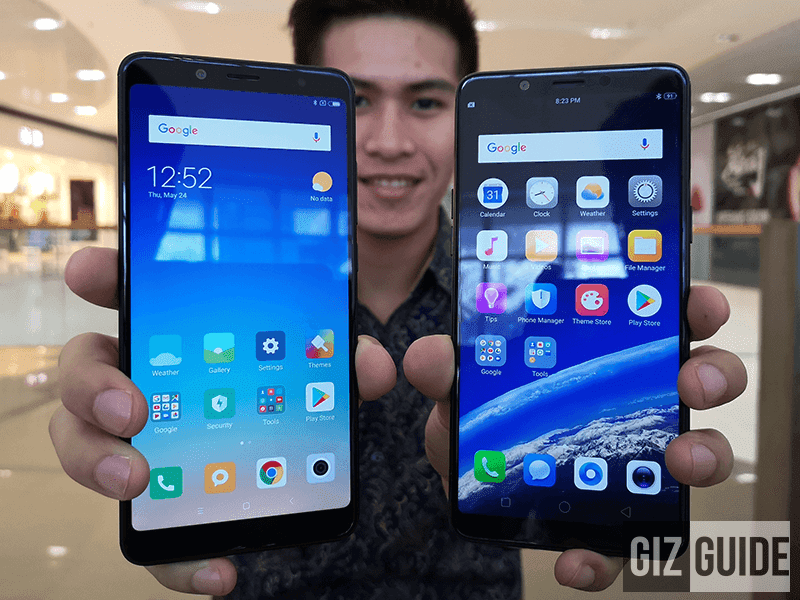 Xiaomi Redmi Note 5 vs OPPO F7 Youth Specs Comparison