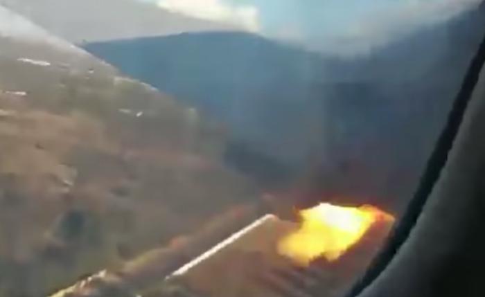 Pasajero graba momento en que avión se estrella en Sudáfrica