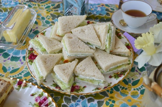 mother's day tea party cucumber sandwiches