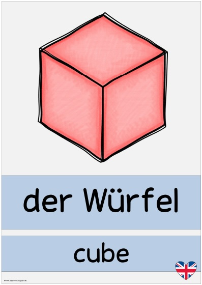 ideenreise plakate quotgeometrische k246rperquot deutschenglisch