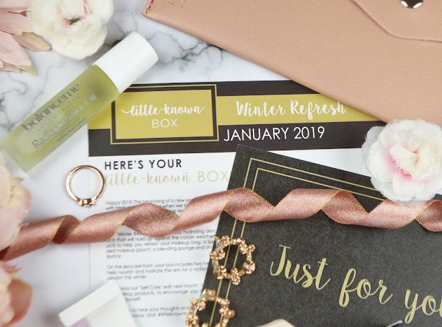 January 2019's Little Known Box Review, the Winter Refresh Edit. Lovelaughslipstick Blog