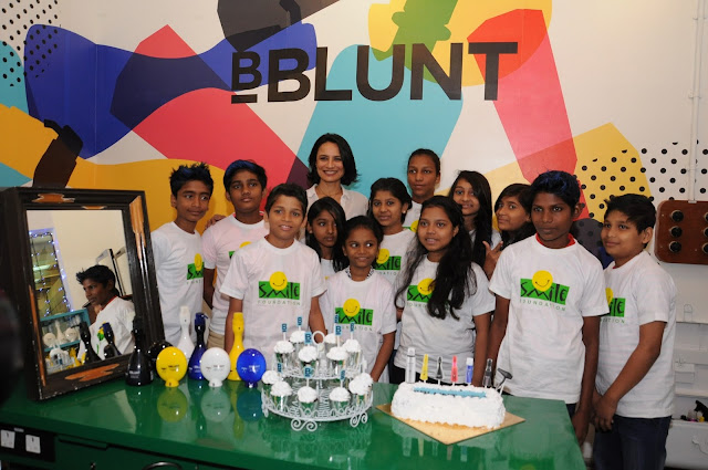 Adhuna Bhabani, Founder and Creative Director, BBLUNT celebrates Children's day with young champs-min