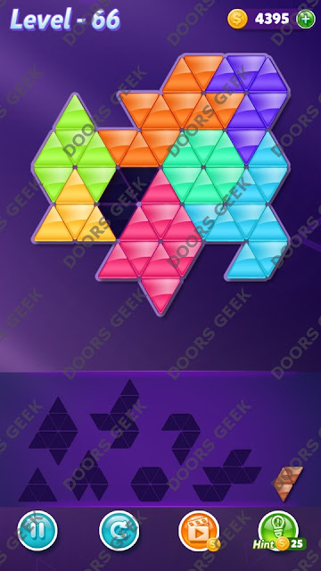 Block! Triangle Puzzle 8 Mania Level 66 Solution, Cheats, Walkthrough for Android, iPhone, iPad and iPod