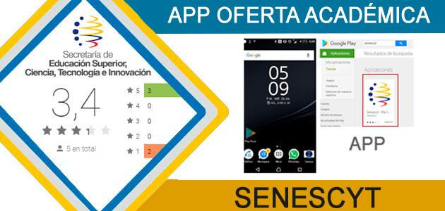 App oferta académica senescyt
