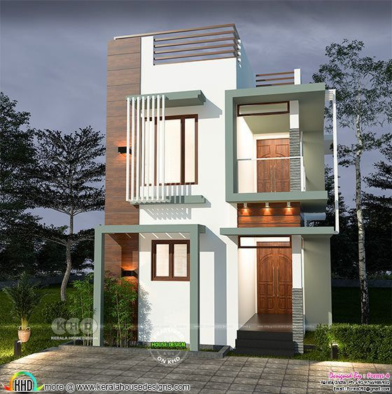 4 BHK, 25 lakhs estimated cost modern home