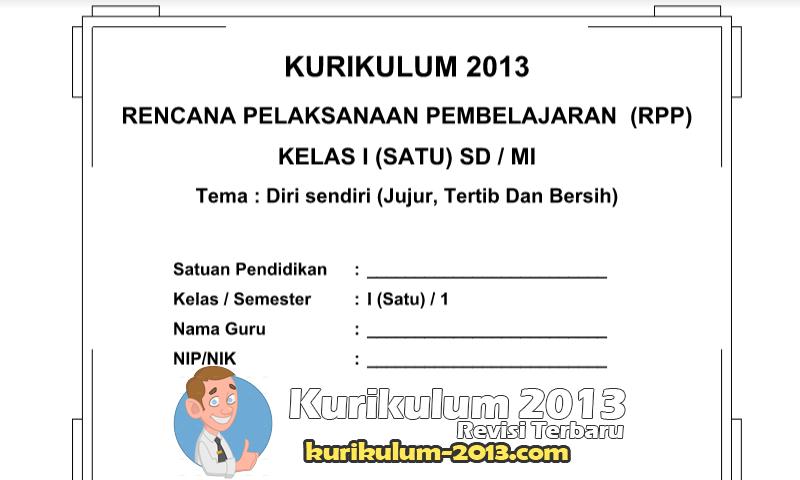 Update RPP Silabus Kurikulum 2013 SD Kelas 1 Semester 1 dan 2 - RPP K13 SD